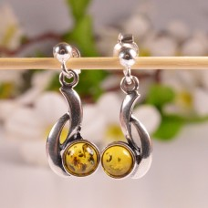 Beautiful hanging Amber Earrings