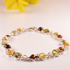 Amber Bracelet Eyespot and Square
