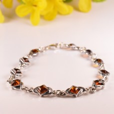 Beautiful Bracelet Cognac Squares